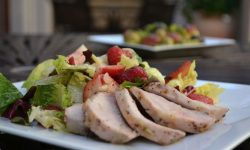 Berries and Pork Salad