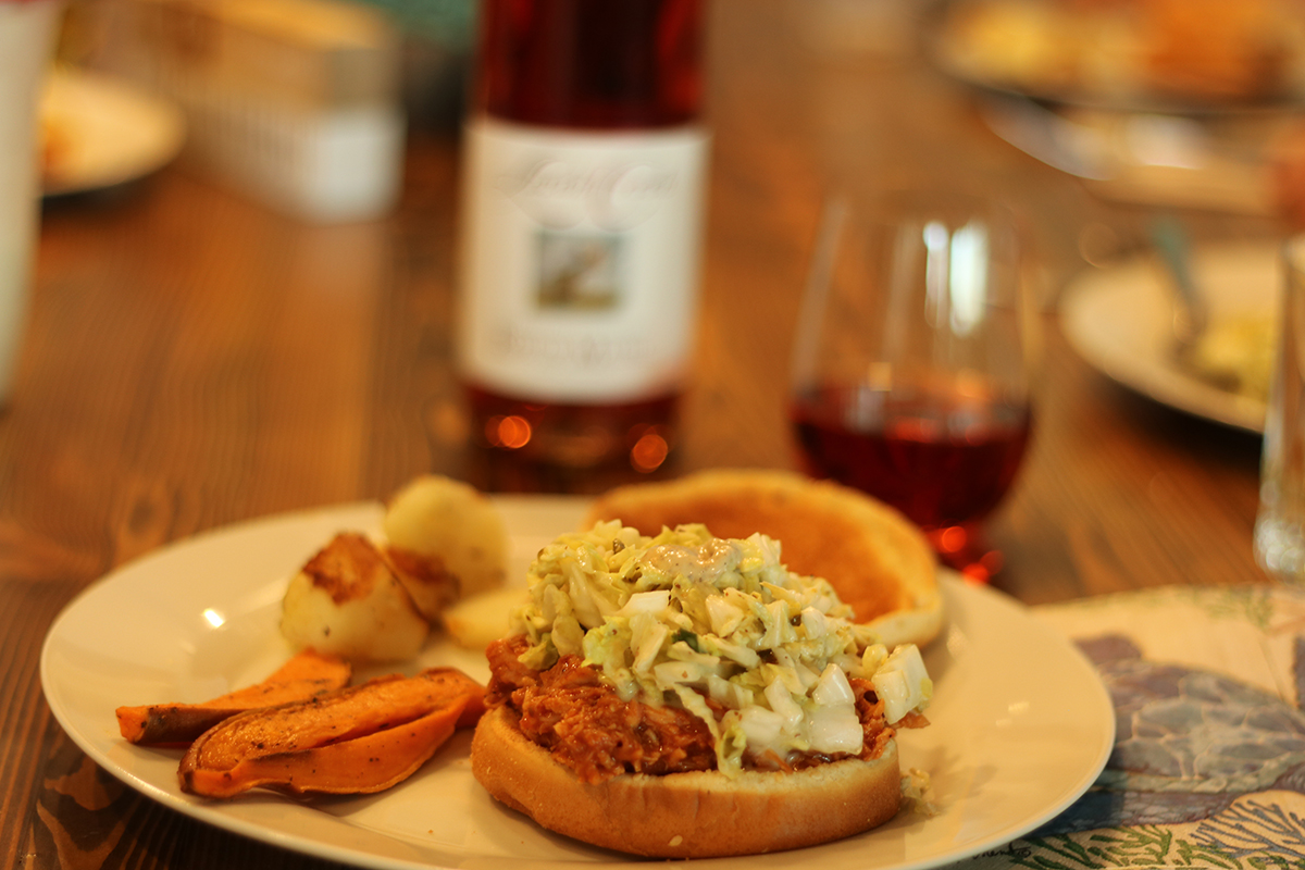Barbecue Chicken Sandwiches with Coleslaw