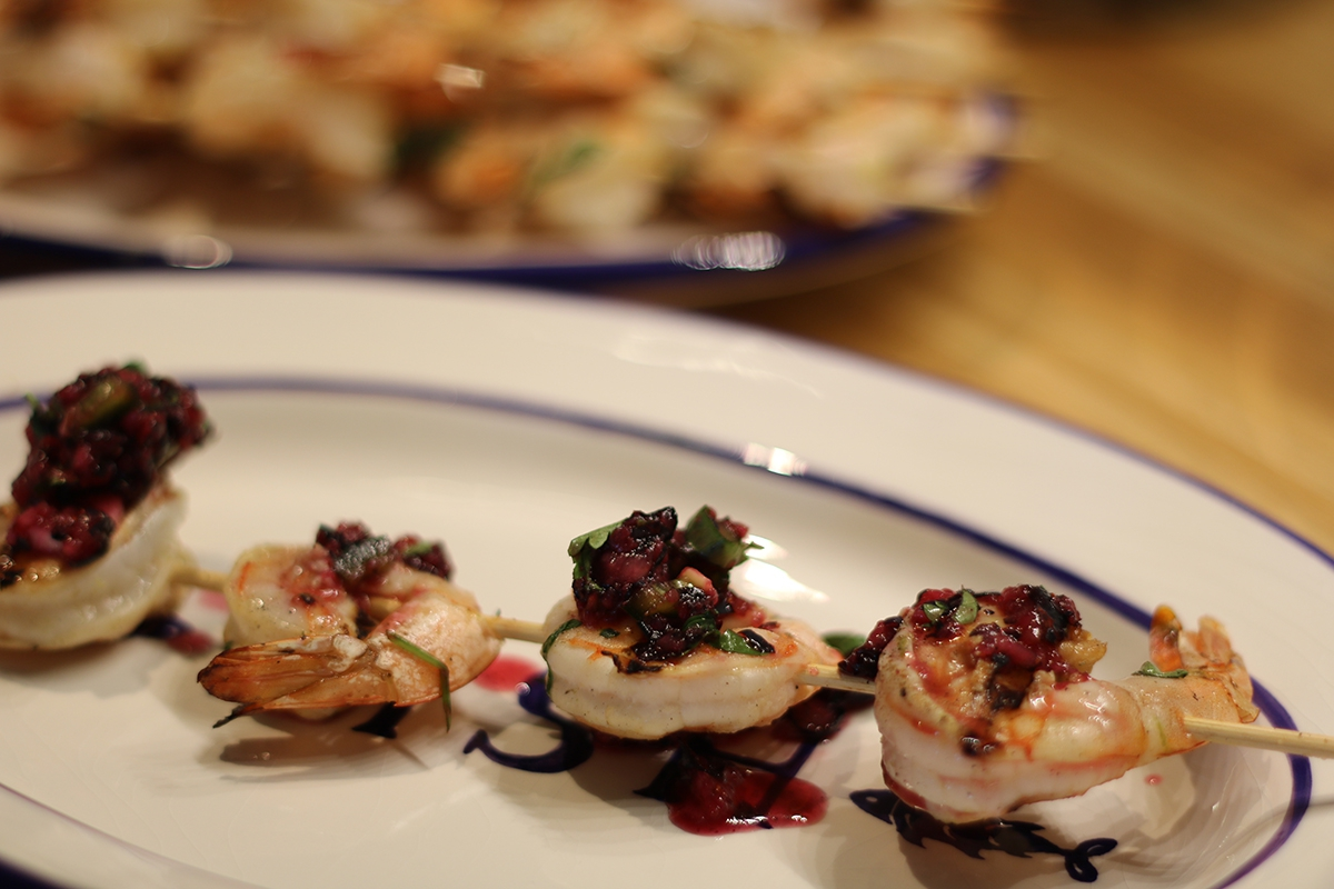 Grilled Shrimp with Blueberry Salsa
